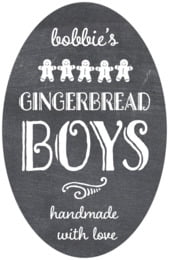 Chalkboard Holiday tall oval labels