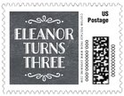 Chalkboard Holiday small postage stamps