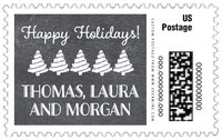 Chalkboard Holiday large postage stamps