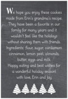 Chalkboard Holiday text labels