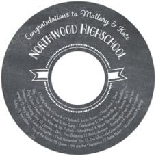 Chalkboard Holiday graduation CD/DVD labels