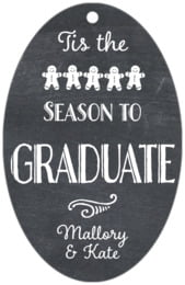 Chalkboard Holiday large oval hang tags