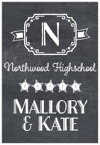 Chalkboard Holiday tall rectangle labels