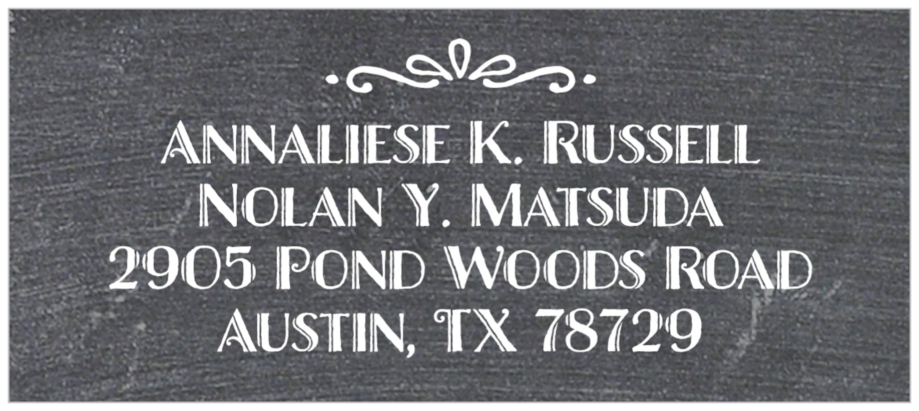 food/craft designer address labels - charcoal - chalkboard holiday (set of 24)