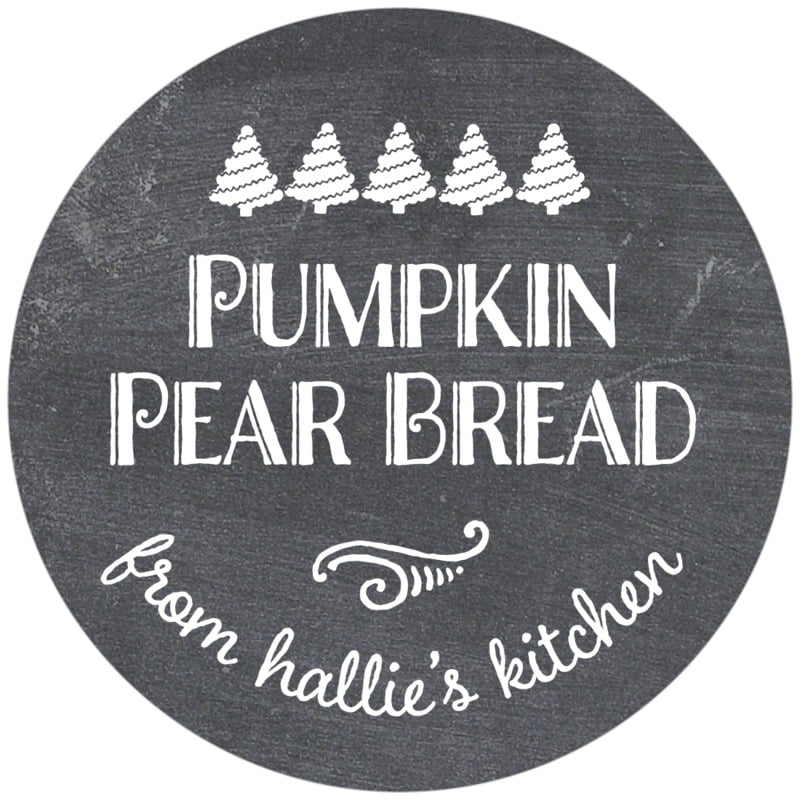circle food/craft labels - charcoal - chalkboard holiday (set of 12)