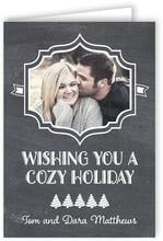 Chalkboard Holiday folding cards