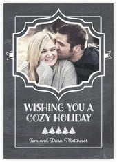 Chalkboard Holiday photo cards - vertical