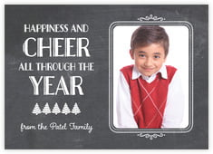 Chalkboard Holiday photo cards - horizontal