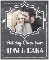Chalkboard Holiday holiday wine labels
