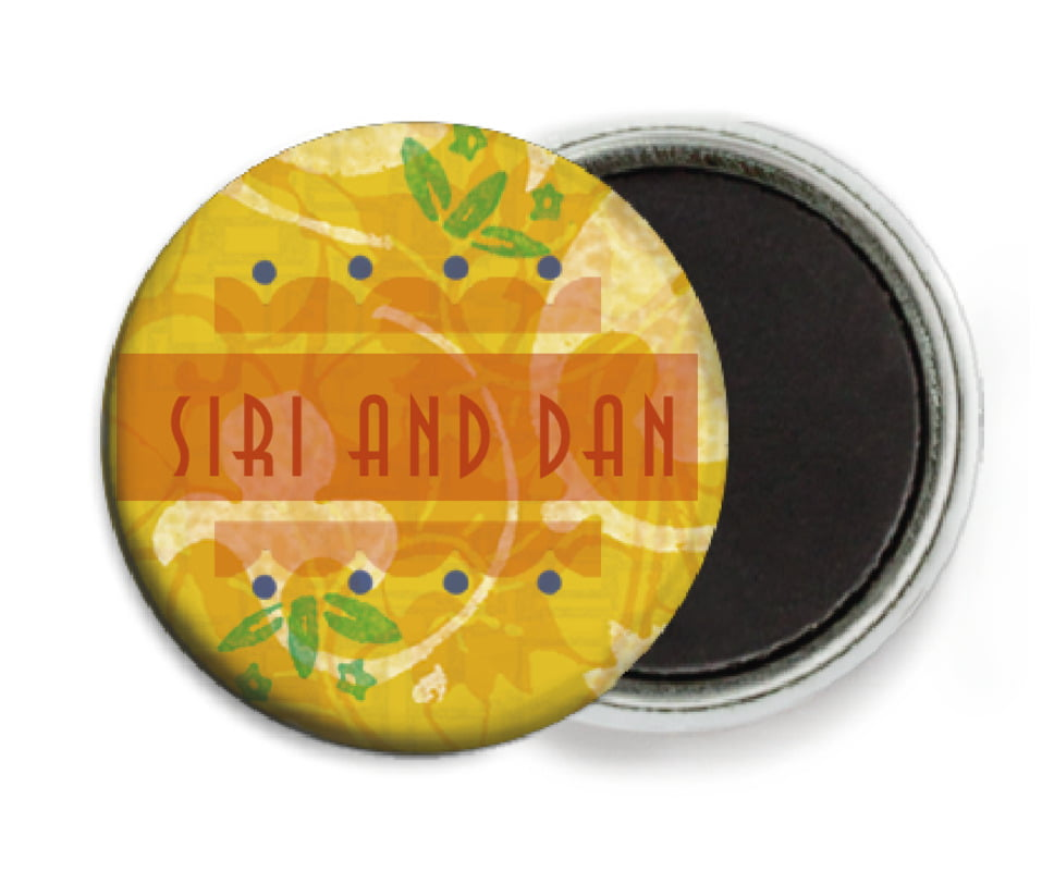 custom button magnets - sunburst - kashmir (set of 6)