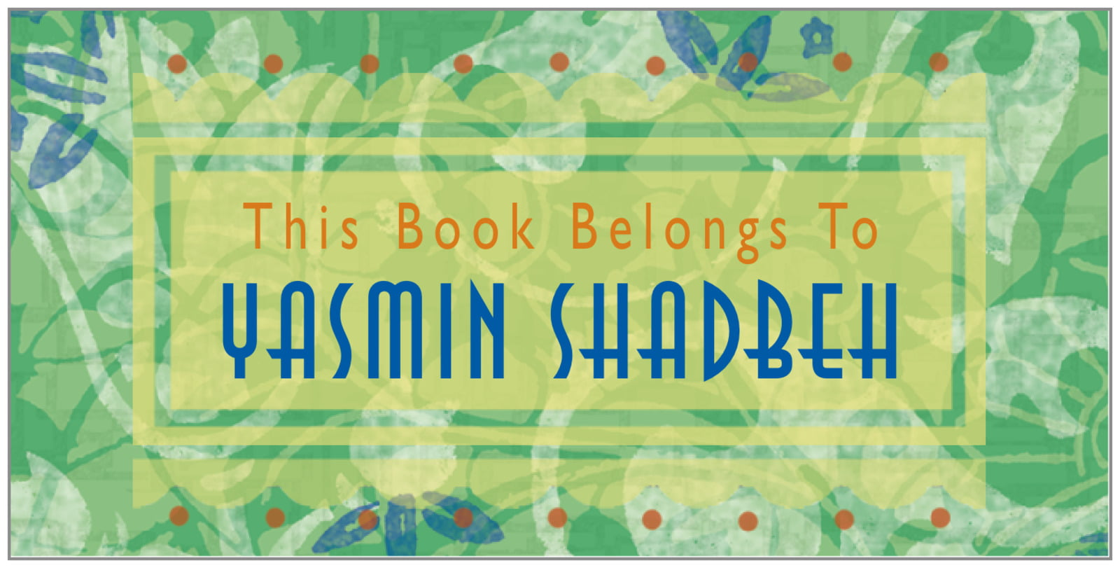 bookplates for everyone - jade - kashmir (set of 24)