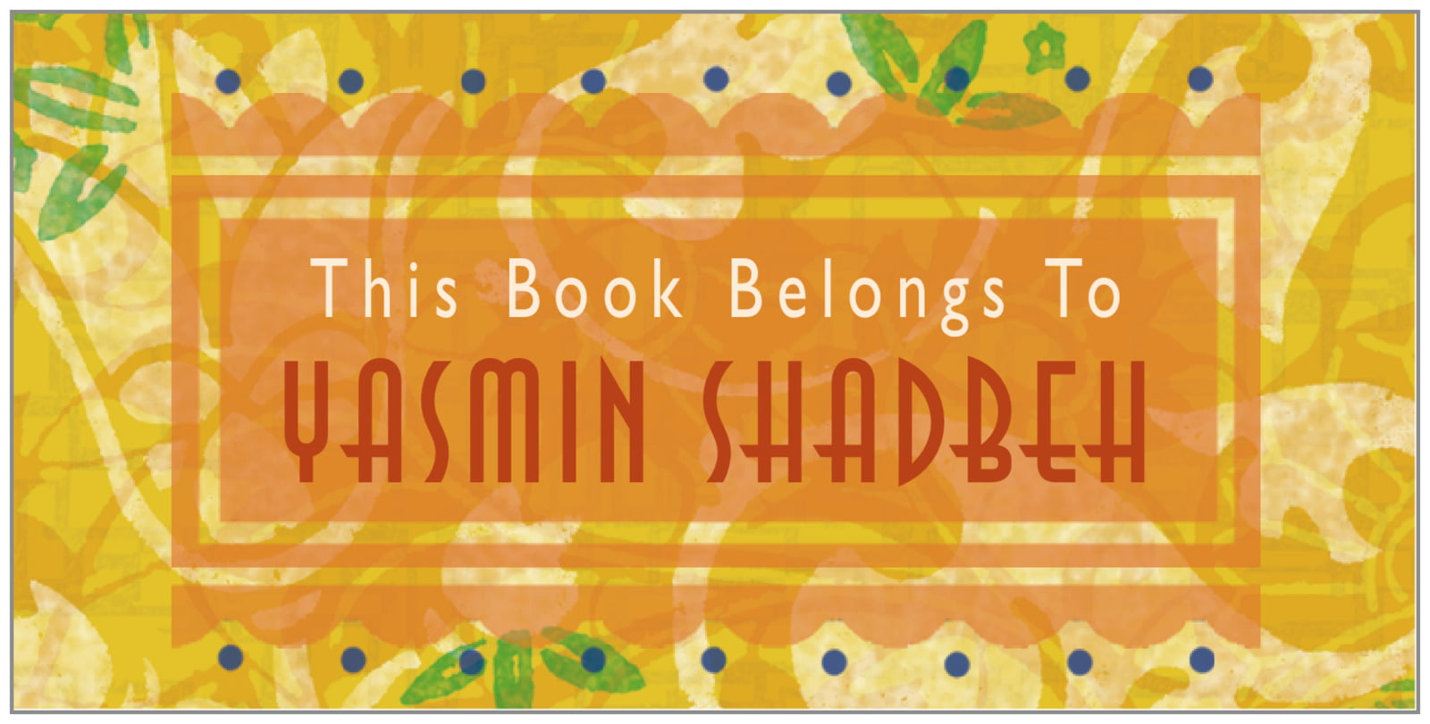 bookplates for everyone - sunburst - kashmir (set of 24)