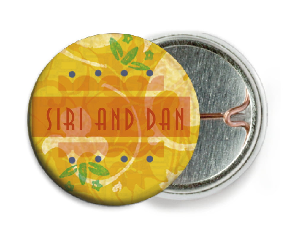 custom pin back buttons - sunburst - kashmir (set of 6)