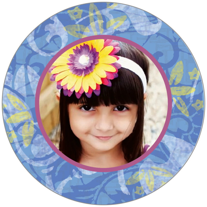 circle photo labels - azure - kashmir (set of 20)