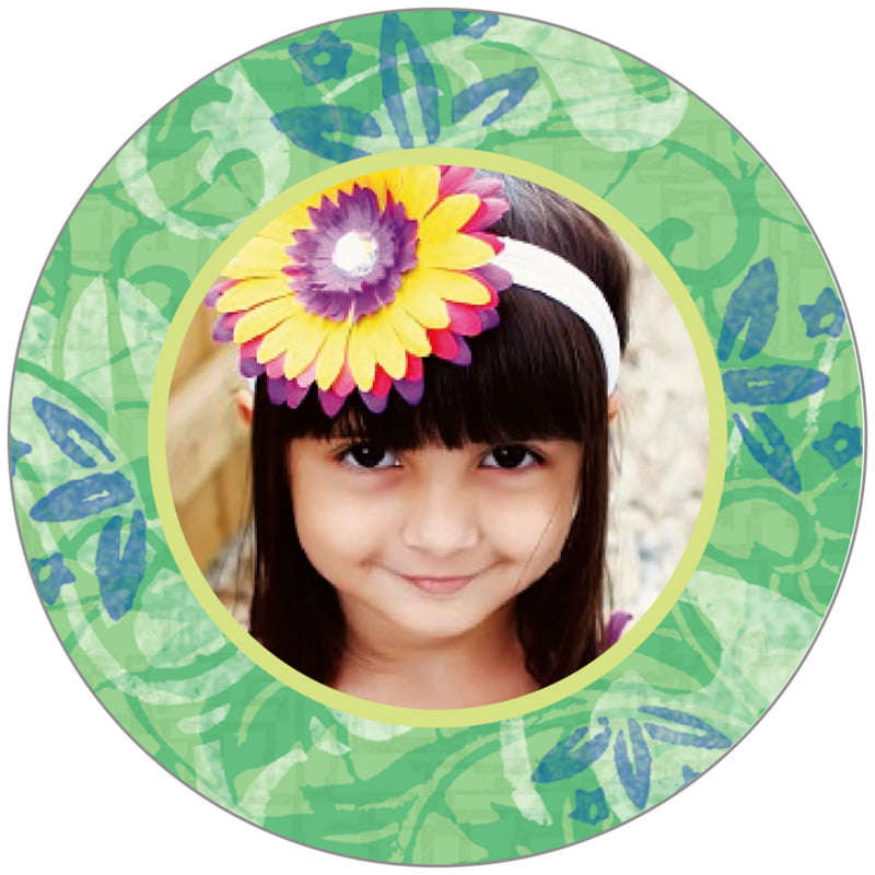 circle photo labels - jade - kashmir (set of 20)
