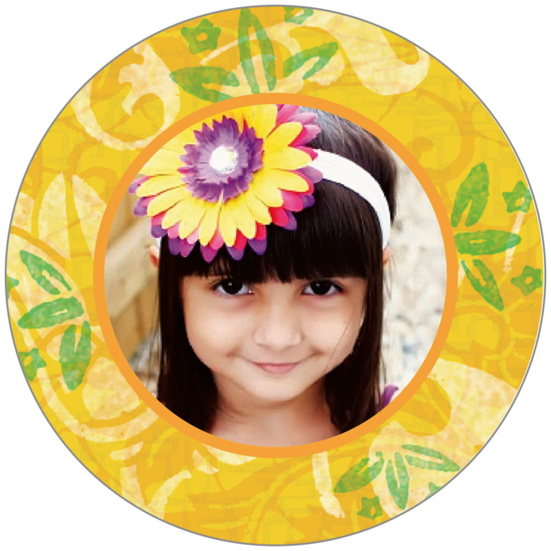 circle photo labels - sunburst - kashmir (set of 20)