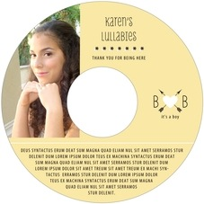 Katniss baby shower CD/DVD labels