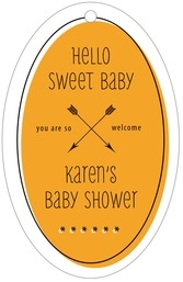 Katniss large oval hang tags