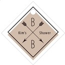 Katniss small diamond hang tags
