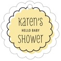 Katniss baby shower tags