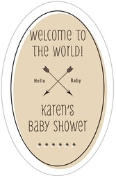 Katniss tall oval labels