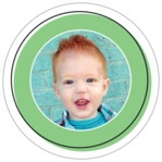 Katniss Circle Photo Label In Light Green