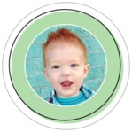 Katniss Circle Photo Label In Mint