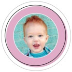 Katniss Circle Photo Label In Peony
