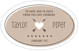 Katniss large oval labels