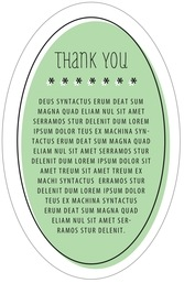 Katniss Oval Text Label In Mint