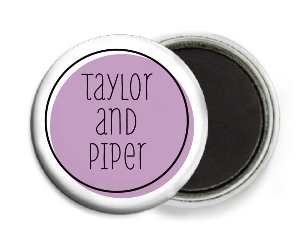 custom button magnets - lilac - katniss (set of 6)
