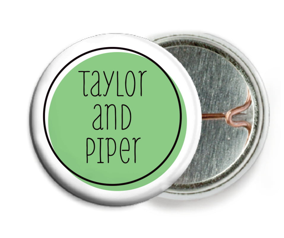custom pin back buttons - light green - katniss (set of 6)