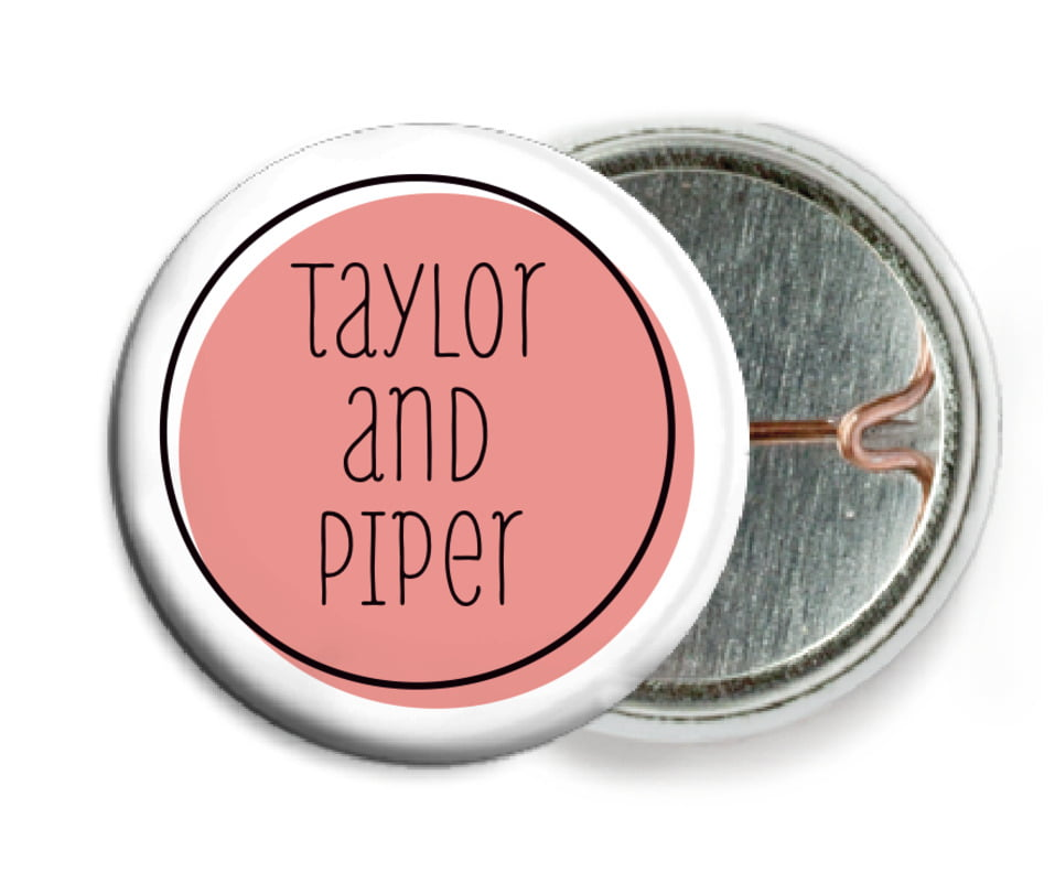 custom pin back buttons - grapefruit - katniss (set of 6)