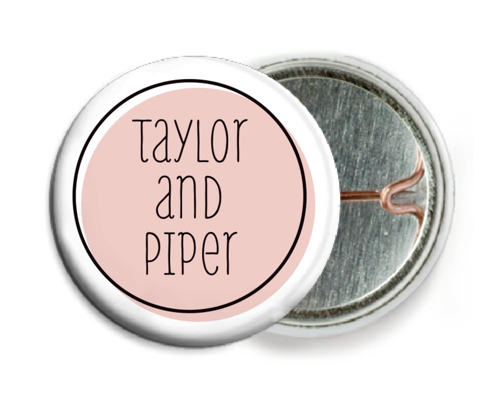 custom pin back buttons - pale pink - katniss (set of 6)