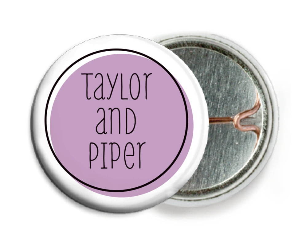custom pin back buttons - lilac - katniss (set of 6)