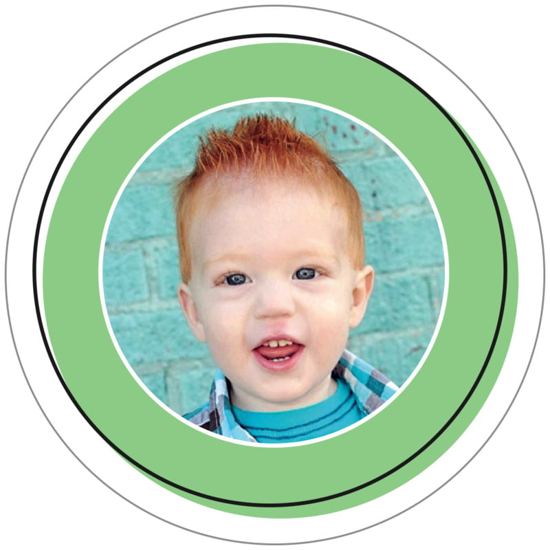circle photo labels - light green - katniss (set of 20)