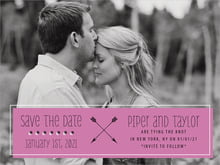 custom save-the-date cards - radiant orchid - katniss (set of 10)