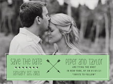 custom save-the-date cards - light green - katniss (set of 10)