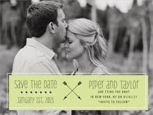 custom save-the-date cards - lime - katniss (set of 10)