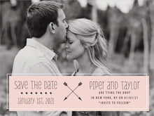 custom save-the-date cards - pale pink - katniss (set of 10)