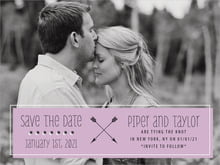 custom save-the-date cards - lilac - katniss (set of 10)