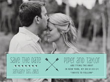 custom save-the-date cards - aruba - katniss (set of 10)