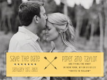 custom save-the-date cards - tangerine - katniss (set of 10)