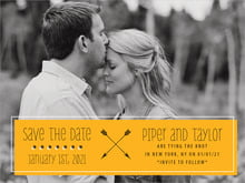 custom save-the-date cards - orange - katniss (set of 10)