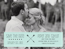 custom save-the-date cards - sea glass - katniss (set of 10)