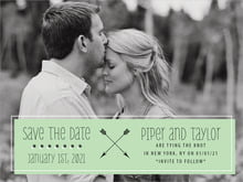 custom save-the-date cards - mint - katniss (set of 10)
