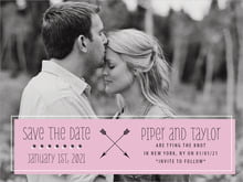 custom save-the-date cards - peony - katniss (set of 10)
