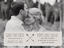 custom save-the-date cards - stone - katniss (set of 10)