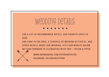 custom enclosure cards - peach - katniss (set of 10)