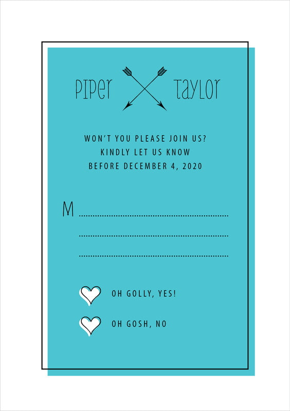 custom tall response cards - turquoise - katniss (set of 10)